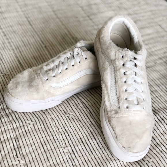 Vans Shoes | Vans Fuzzy White Fur Low